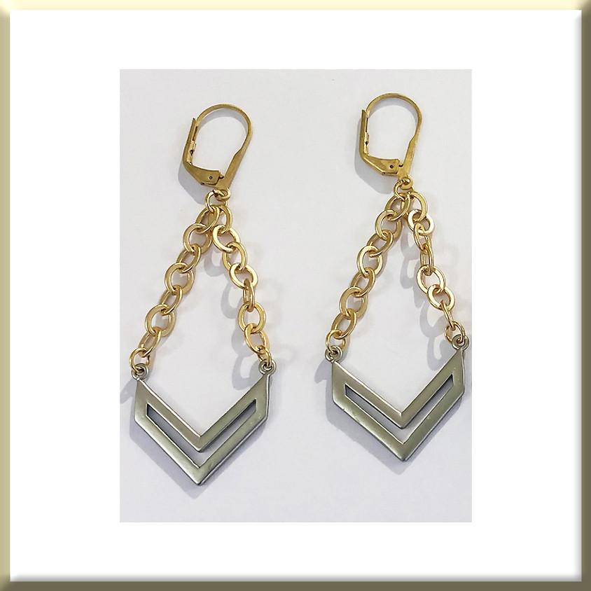 Intermingling Metal Earrings (Zoom)
