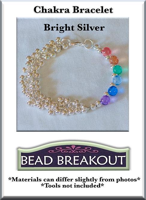 Chakra Bracelet/ Bright Silver