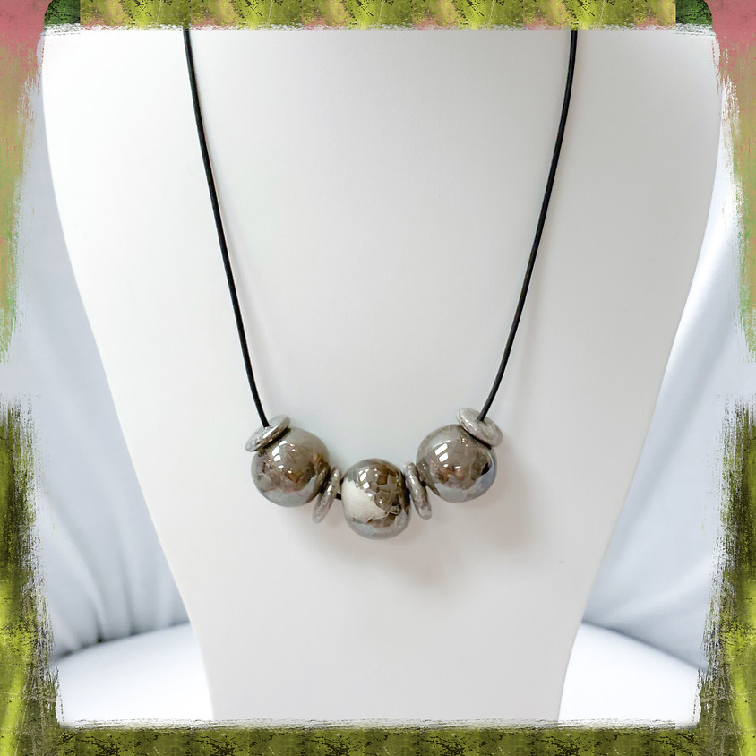 Simple Greek Bauble Necklace (Zoom)