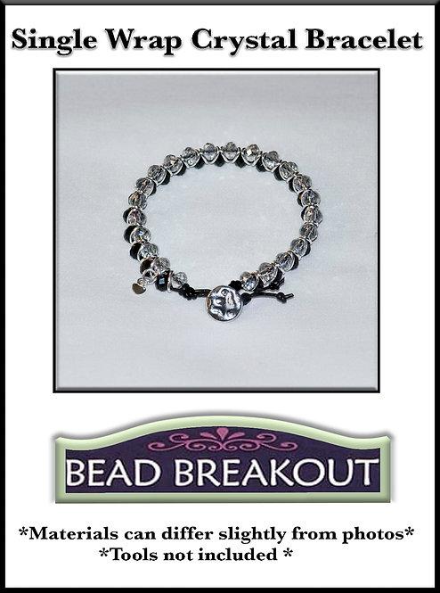 Single Wrap Crystal Bracelet