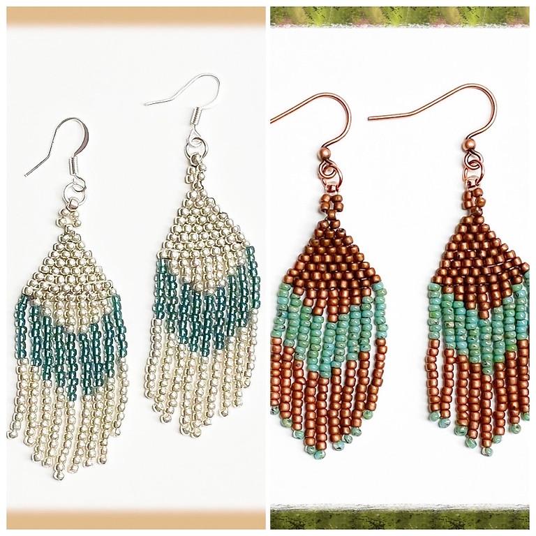 Seed Bead Fringe Earrings (In House)