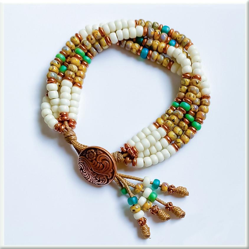 4-Strand Bohemian Bracelet (Zoom)