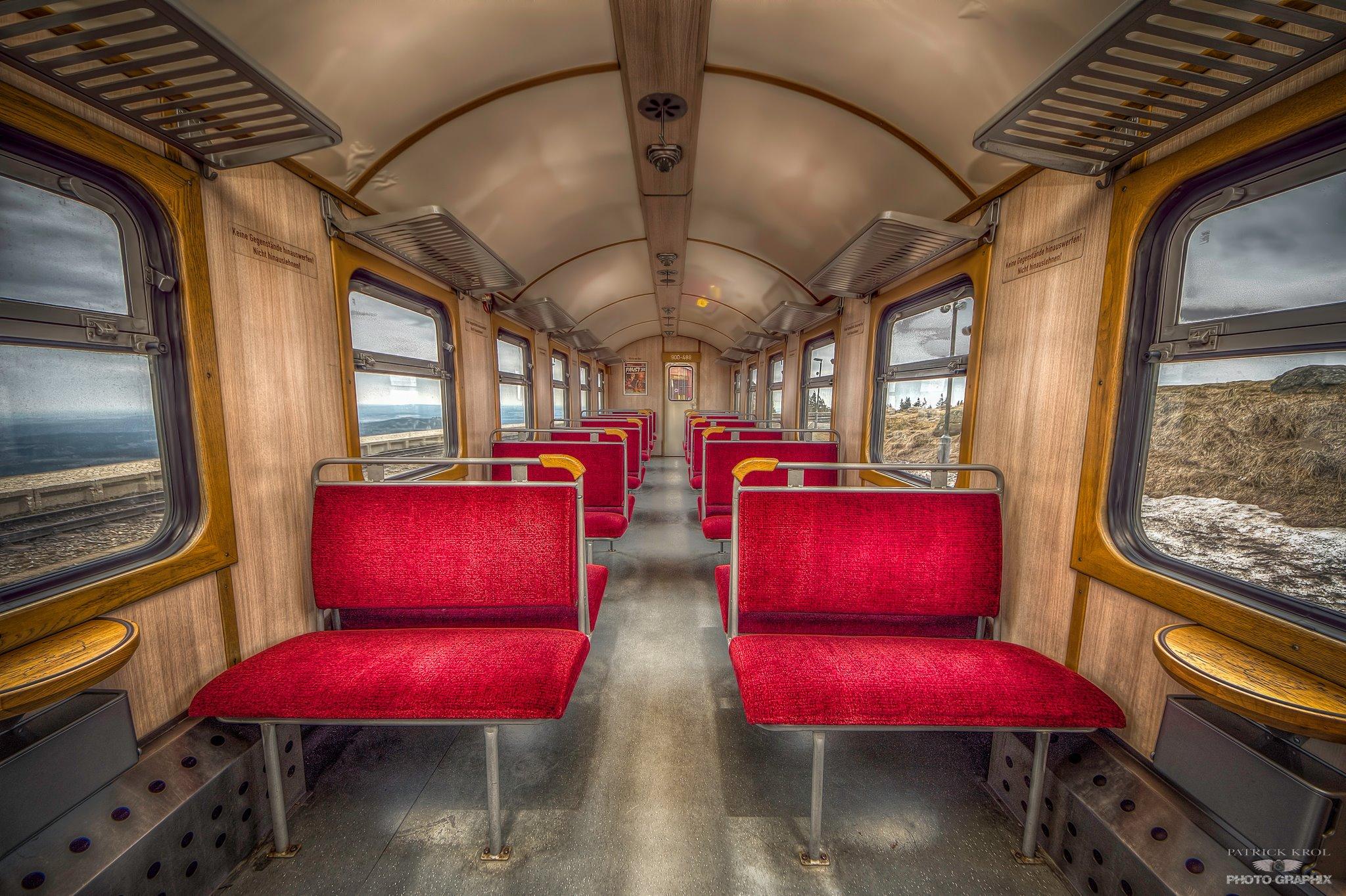 Zugwagon der Brockenbahn