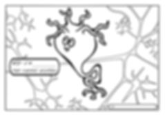 cheeky neuron coloring page