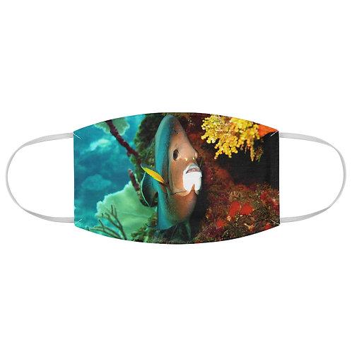 Gray Angelfish Fabric Face Mask