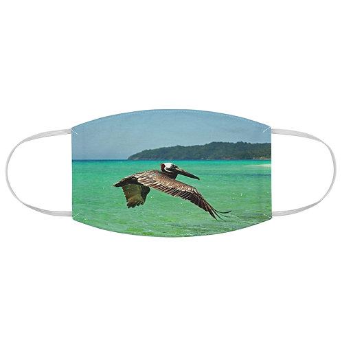 Roatan Pelican Fabric Face Mask