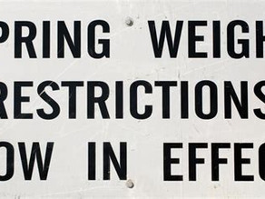 Spring Weight Restrictions              Starting February 28, 2021