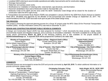 QEW Construction Notice