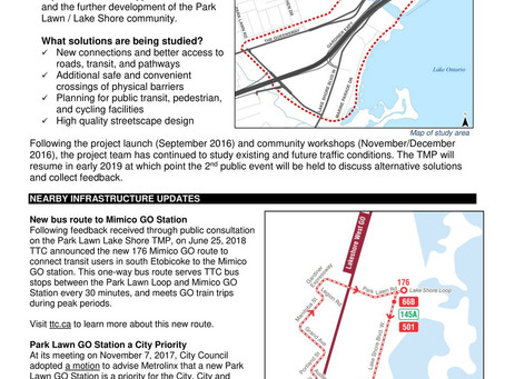 Park Lawn Lake Shore Transportation Master Plan Update