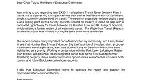 Waterfront Transit Reset Phase 2 Report - Councillor Grimes Letter of Support