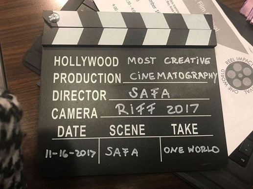 RIFF 2017 award for os Creative Cinematography