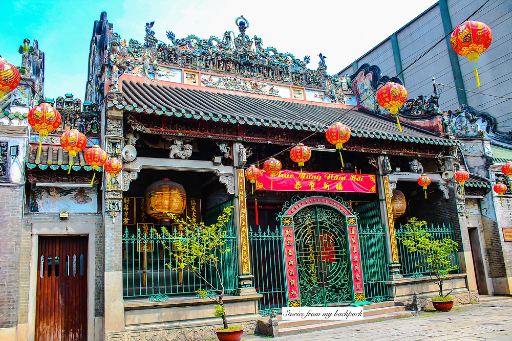 chinese temple in ho Chi Minh city, Thien Hau temple, buddhist temple in ho Chi Minh city, Cholon, Cho Lon, Saigon Chinatown, Ho Chi Minh city china town, things to do in china town, things to do in ho Chi Minh city, chinese architecture in Vietnam