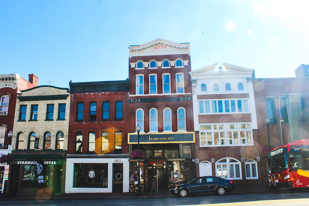 Georgetown, Georgetown University, historic district, things to do in Georgetown, Potomac River, shopping, Georgetown flea market, Julia Child house