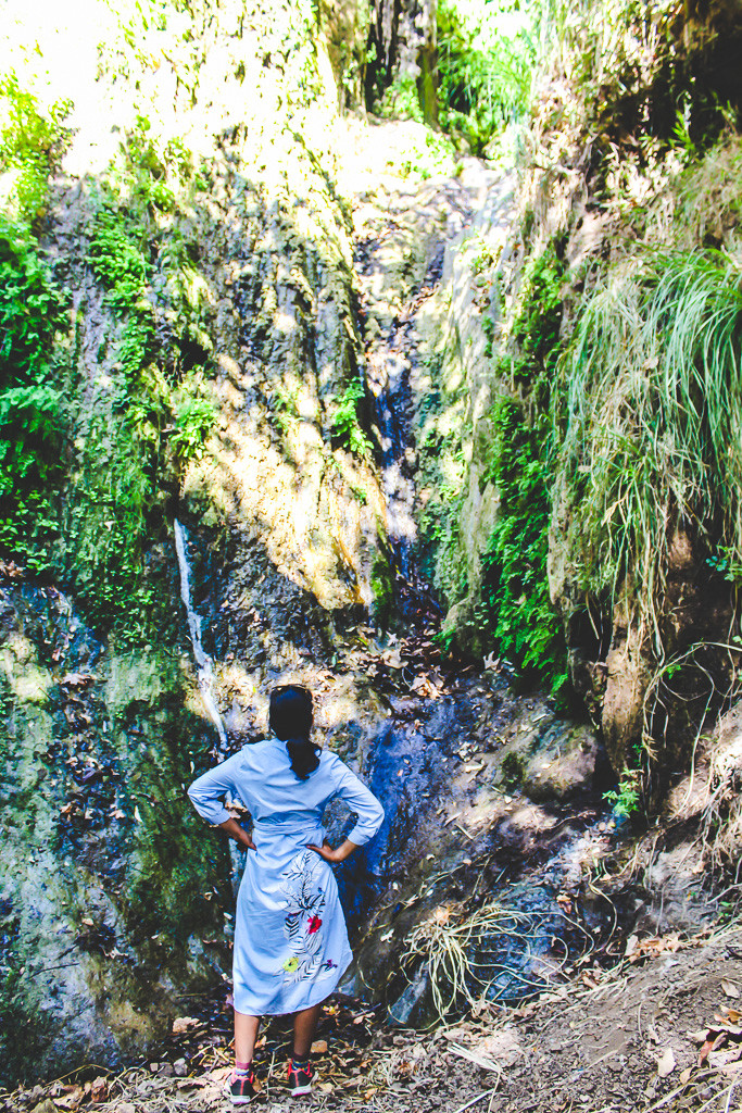 waterfall, Escondido falls, Malibu waterfall, hiking trail in Malibu, dog friendly hiking trail