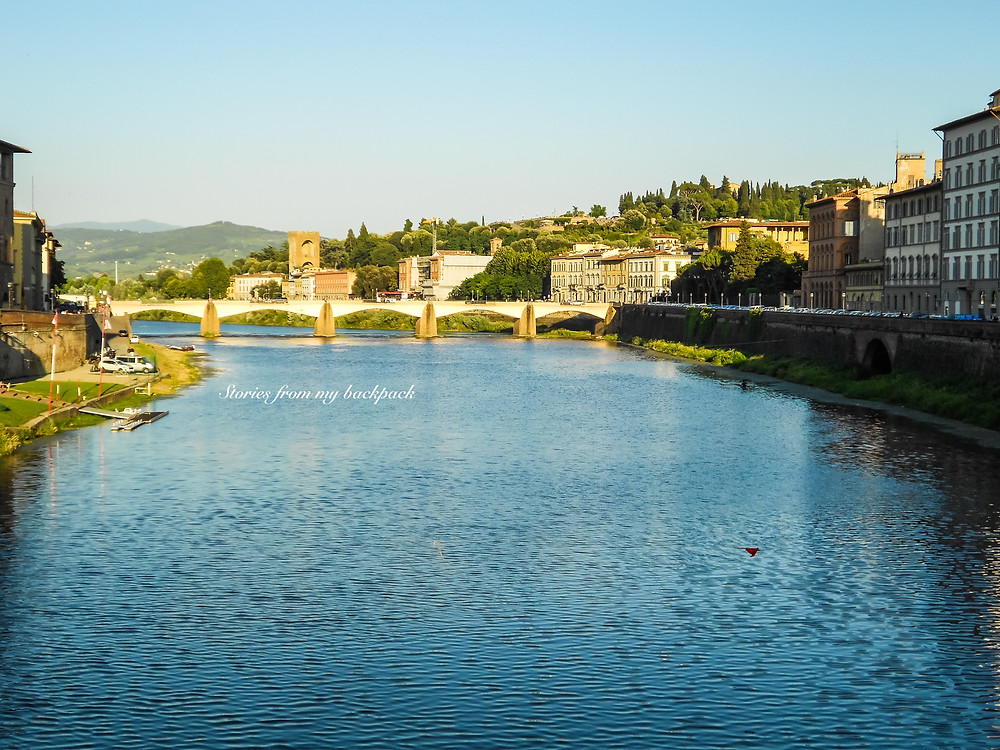 Arno River, Ponte Vecchio, Vasari Corridor, Sunset view of ponte Vecchio, Best sunset in Florence, Best views in Florence, Shopping in Florence, Live music in Florence