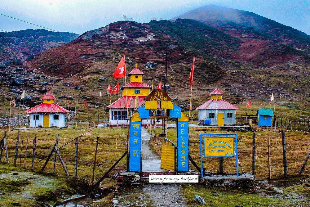 temple in Nathang village, temple in Himalayas, East Sikkim tour, top attractions in East Sikkim, East Sikkim travel blog, Nathang valley top attractions