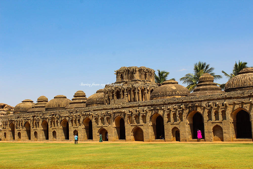 Elephant's Stables in Hampi, hampi, musical pillars of Hampi, best temples in Hampi, Hampi tour, things to do in Hampi, Vijaya Vittala temple Hampi
