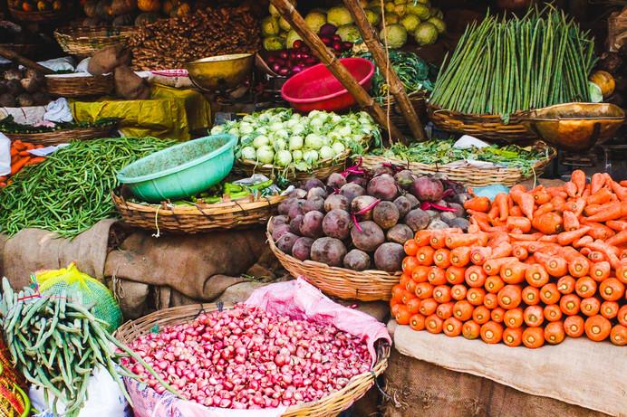 Fresh produce from around Karnataka, India