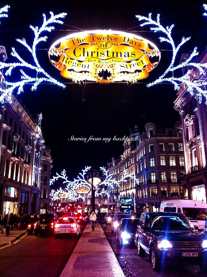 Regent street London, Oxford circus, Oxford street London, London Christmas market, best shopping in London
