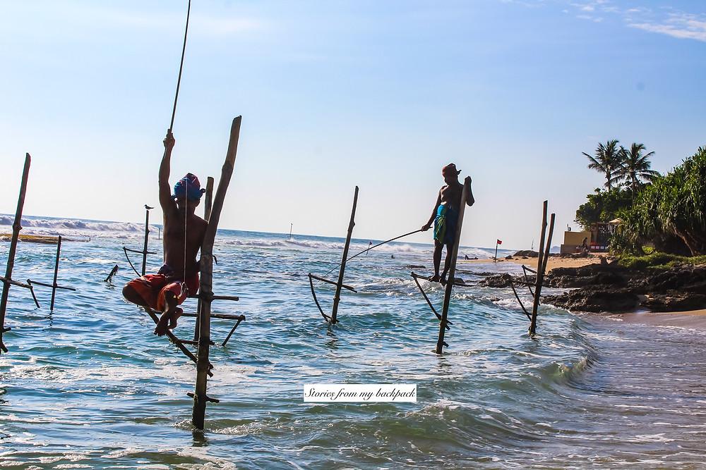 Mirissa beach Sri Lanka, best beaches in Sri Lanka, water sports in Sri Lanka, surfing in Sri Lanka, surfing in Mirissa, snorkelling in Mirissa, best restaurants in Mirissa, party in Mirissa, bars in Mirissa, whale watching in Sri Lanka, stilt fishermen in Sri Lanka, where to find stilt fishermen in Sri Lanka