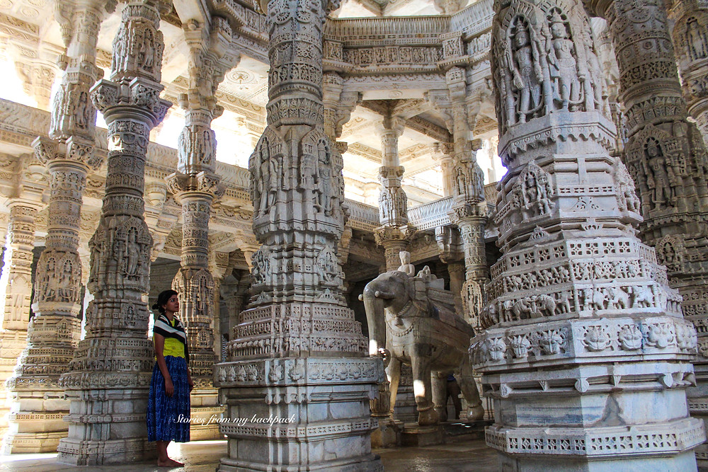 intricate temple carvings, Ranakpur jain temple, most beautiful Indian temple, short trip from Udaipur