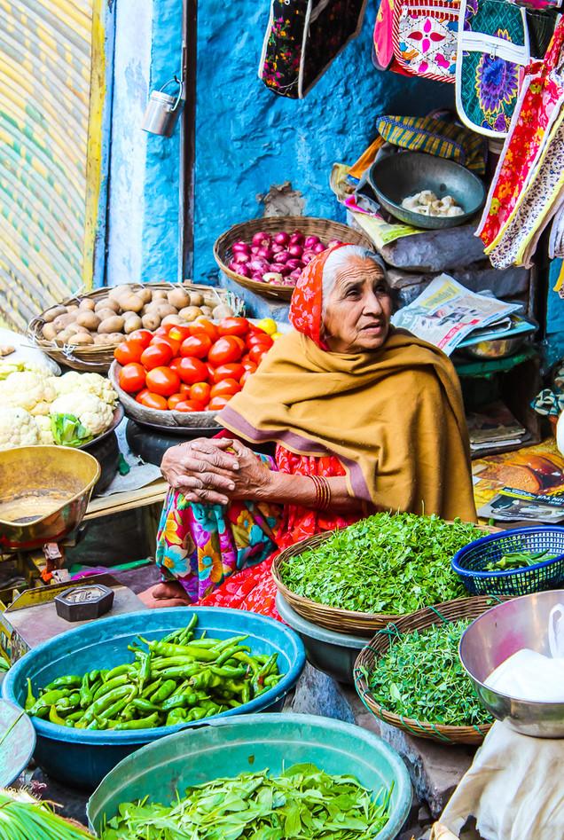 The vegetable seller- Jodhpur,
