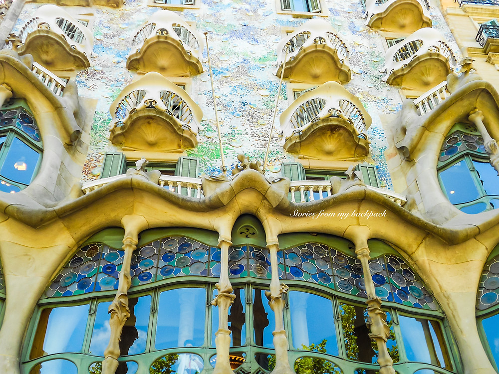 Casa Battlo, Antoni Gaudi, Gaudi's Barcelona, budget travel tips for Barcelona, first timer's guide to Barcelona
