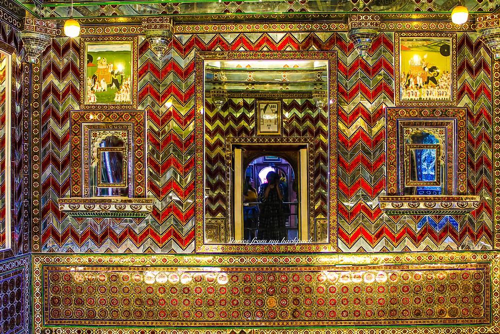 Sheesh Mahal, Room of mirrors, mirror palace,  City Palace Udaipur, City palace, Rajasthan Palace, interiors of city palace, inside city palace Udaipur, Lake Pichola