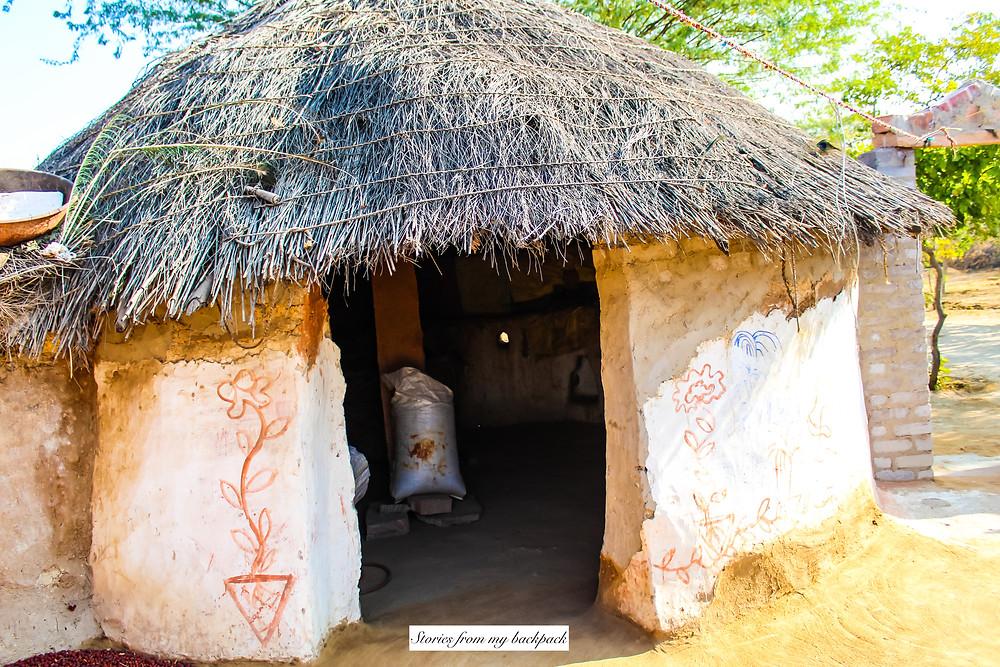 mud huts, Bishnoi Village, Bishnoi traditional homes, Rajasthan village home