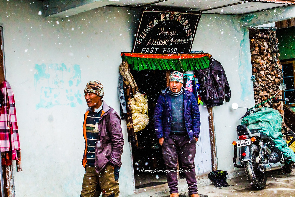 Thangu, Thangu village, high altitude village in india, Himalayan village, accommodation in gurudongmar lake, where to stay near gurudongmar lake, camping at gurudongmar lake, rest stop for bikers near gurudongmar lake