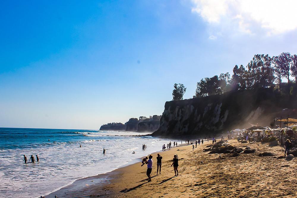 paradise cove beach Malibu, Malibu beaches, best restaurants in Malibu, paradise cove beach cafe, cliffs in Malibu