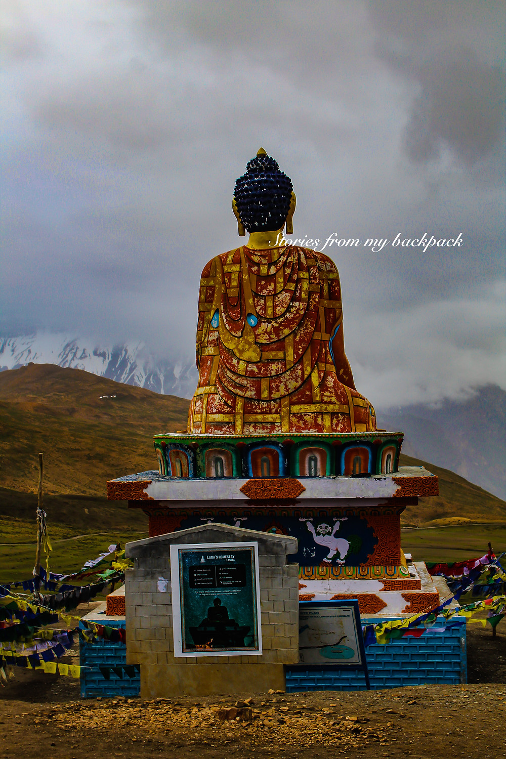 Buddha statue in Langza, Buddha statue in Spiti, things to do in spiti, Lanza accommodation, homestay in spiti, homestay in Lanza