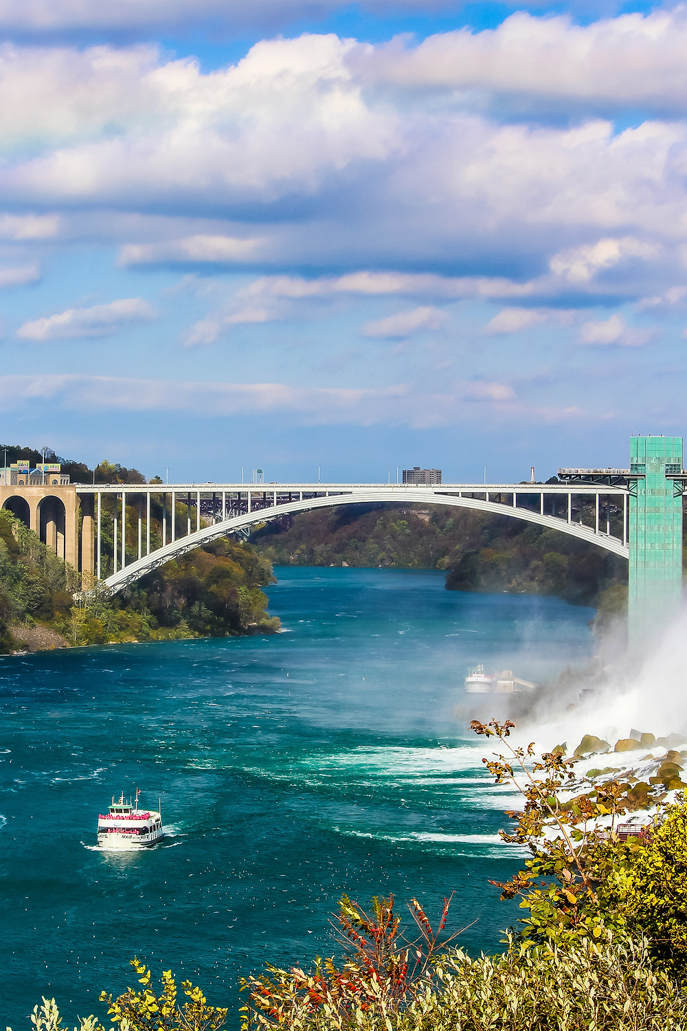 Rainbow bridge, USA Canada border, USA Canada foot bridge, international border crossing, Niagara Falls bridge, Niagara Falls New York, Niagara Falls Ontario