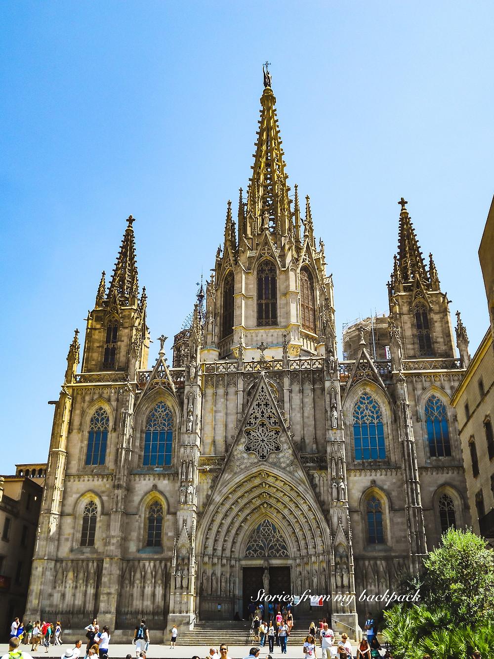 Barcelona Cathedral, Gothic quarter Barcelona, things to do in gothic quarter Barcelona, sightseeing in gothic quarter, churches in Barcelona, Sagrada Familia