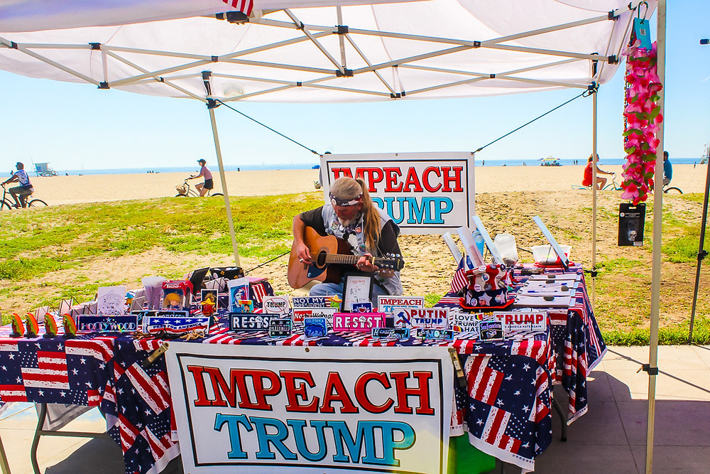 shopping on Venice boardwalk, music at Venice beach, Donald trump, impeach trump at Venice boardwalk, shopping on Venice beach, things to do in Venice beach, riding bike at Venice boardwalk