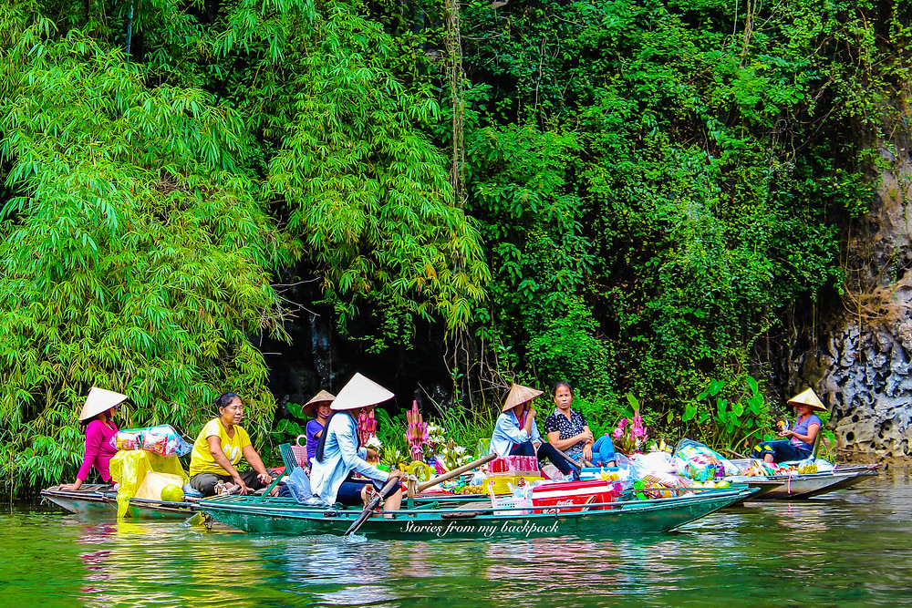 Floating market in Vietnam, Tam Coc, Hoa Lu, Day trip from Hanoi, Ninh Binh, Vietnam places to visit, Things to do in Tam Coc