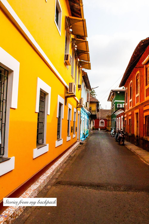Fontainhas, panjim, latin quarter of goa, Portuguese houses, Portuguese architecture