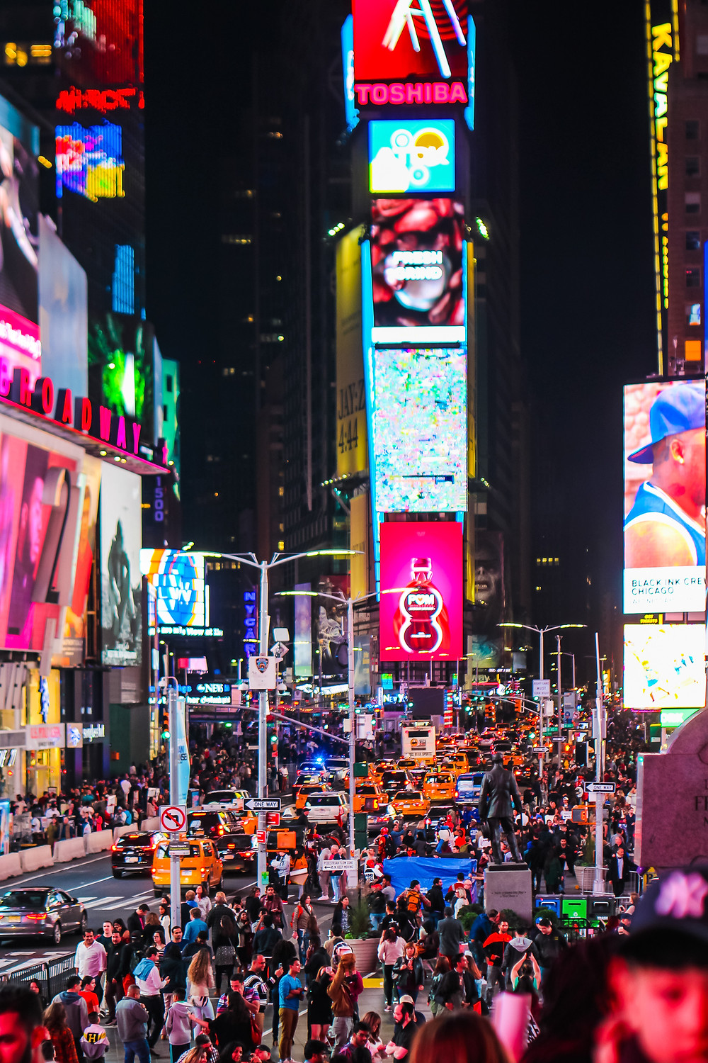 Things to do in Times Square, Times Square, Manhattan, New York, nyc, yellow cab, night life