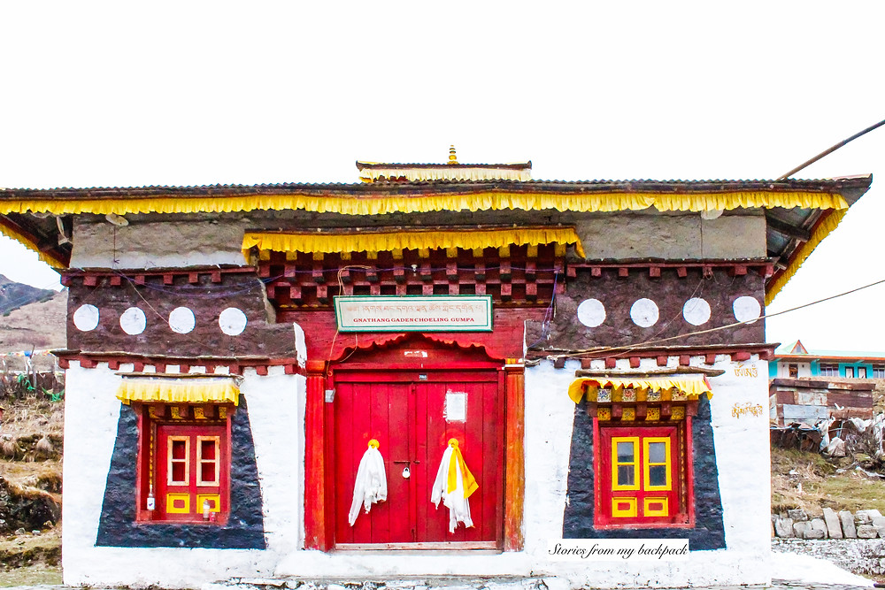 buddhist monastery, gumpa in sikkim, Sikkim travel blog, Sikkim top attractions, things to do in Nathan village, top attractions in Nathang village, Nathan village blog, Nathan valley guide