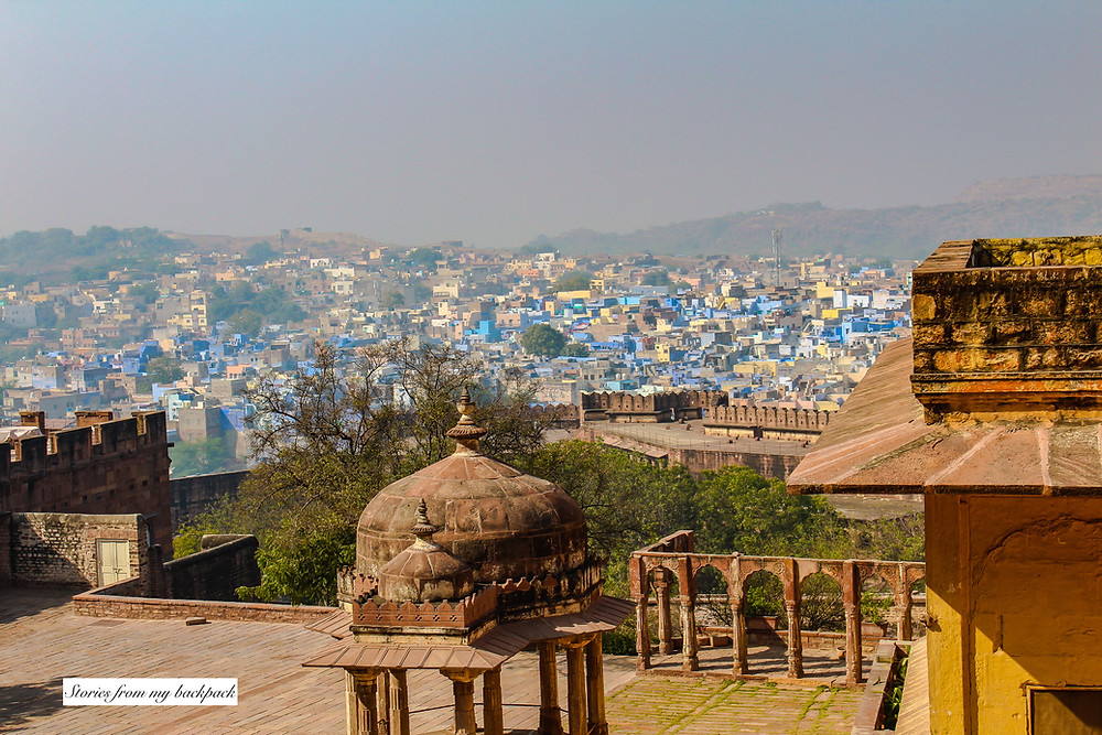 Mehrangarh Fort, blue city, view of blue city, Rajasthan forts, jodhpur fort, things to do in jodhpur, best things to do in jodhpur