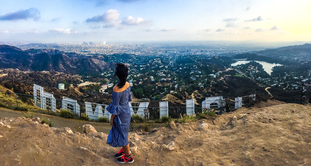 view from the Hollywood sign