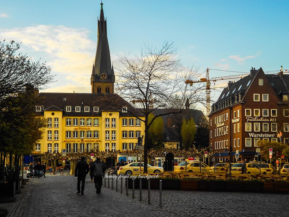 St Lambertus Church, things to do in Dusseldorf, best restaurants in Dusseldorf, longest bar in the world, altbier