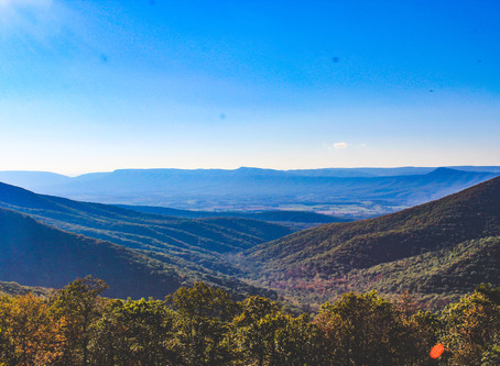 Fall colours at Shenandoah National Park & Hike Bear's Den Overlook!
