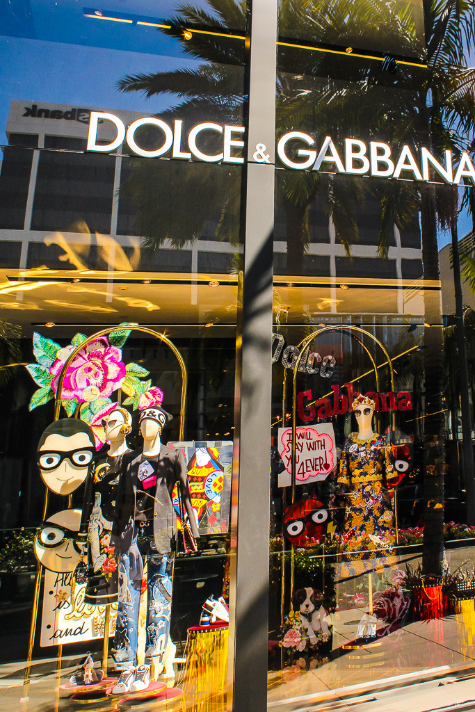 Dolce & Gabbana, Louis Vuitton, Rodeo Drive, 2 Rodeo Drive, Shopping on Rodeo drive, Beverly Hills California, Hollywood