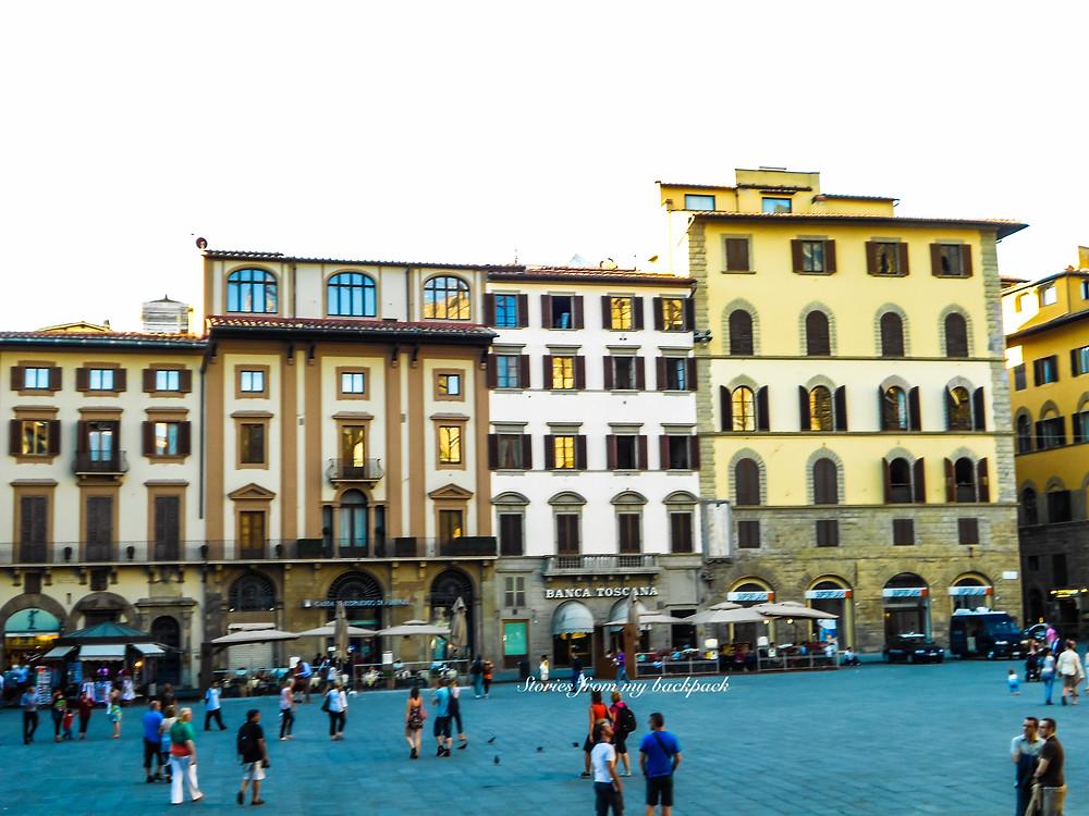 Piazzale Michelangelo, Piazza della republica, street food tour in florence, flea market in florence, food market in Florence