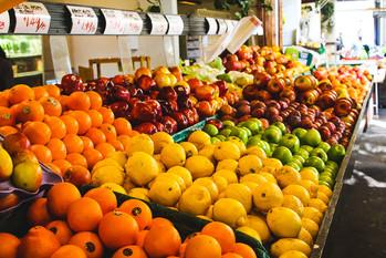 Fresh fruit from the Farmer's Market