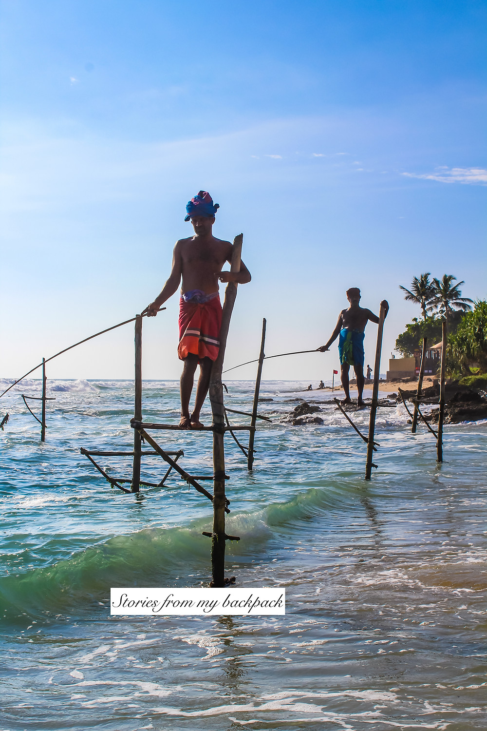 stilt fishermen, stilt fishing in Sri Lanka, where to find stilt fishermen in Sri Lanka, stilt fishermen photo spots in Galle, traditional fishing methods in Sri Lanka, stilt fishing in Weligama, Unawatuna