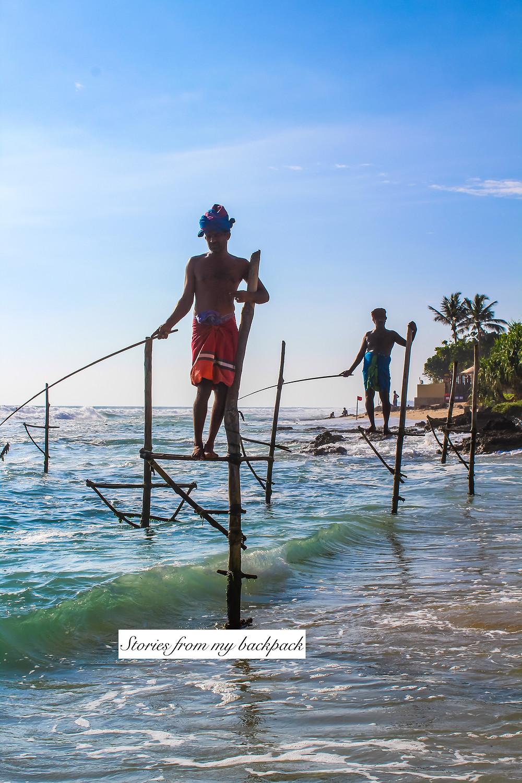 stilt fishermen, stilt fishing in Sri Lanka, where to find stilt fishermen in Sri Lanka, stilt fishermen photo spots in Galle, traditional fishing methods in Sri Lanka, stilt fishing in Weligama, Unawatuna