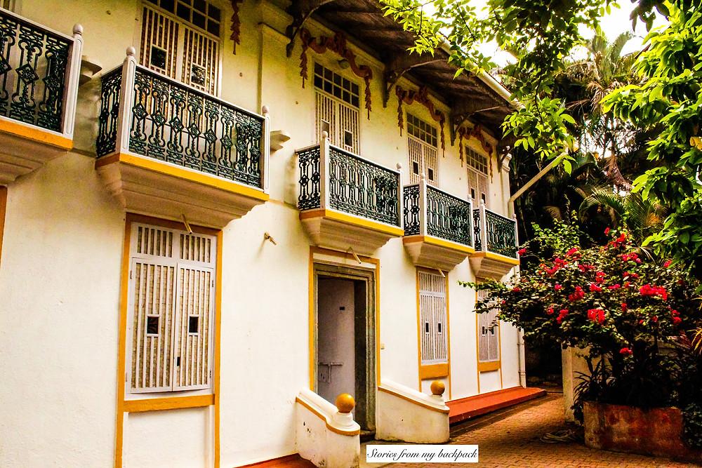 Portuguese architecture, Fontainhas, Fundação Oriente, Art gallery in goa, Fontainhas art gallery