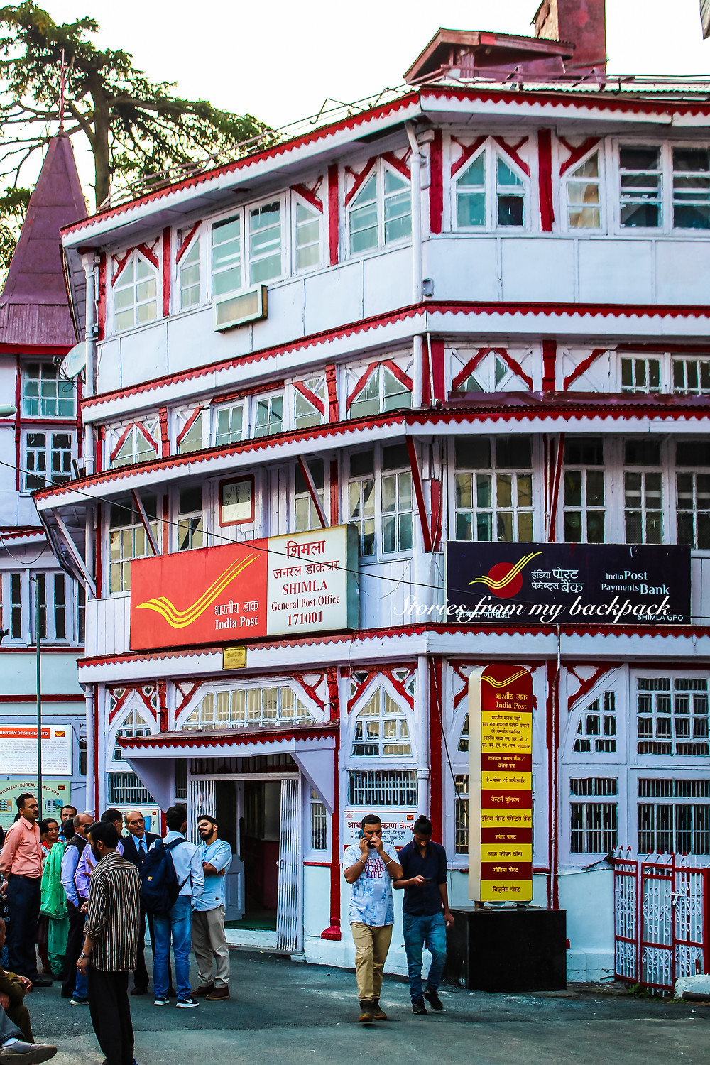 Shimla post office, shimla heritage buildings, Shimla itinerary, Shimla tour, how to get to shimla, travel to shimla